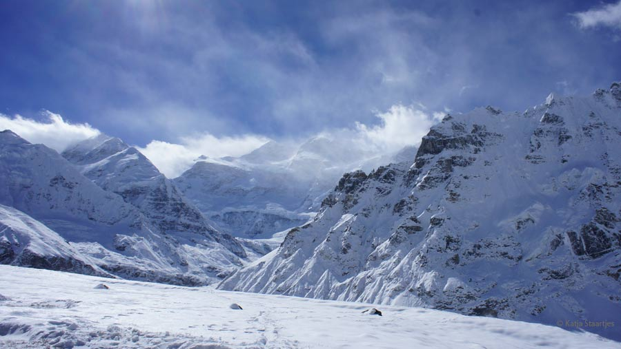 Kanchenjunga Base Camp (north side) at 5150 metres.